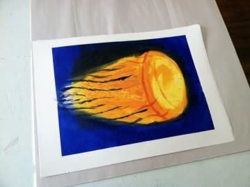 Dark Jellyfish print