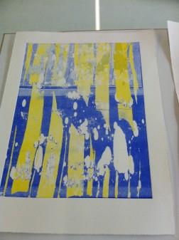 Yellow spikes print
