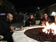 Enjoying around the fire
