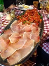 Bruschetta and pancetta