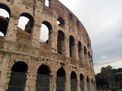 Side of the coliseum