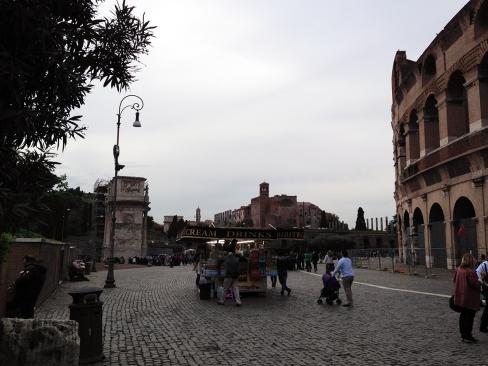 Coliseum courtyard