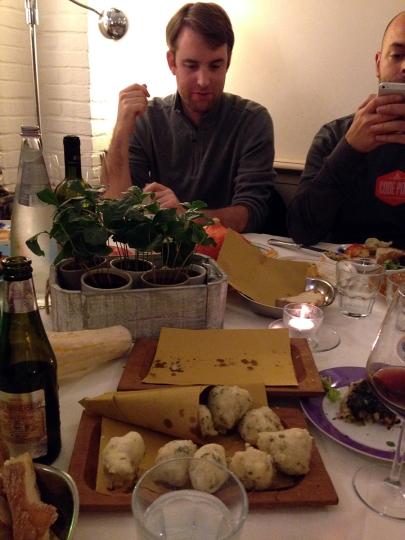 Team dinner on our last night